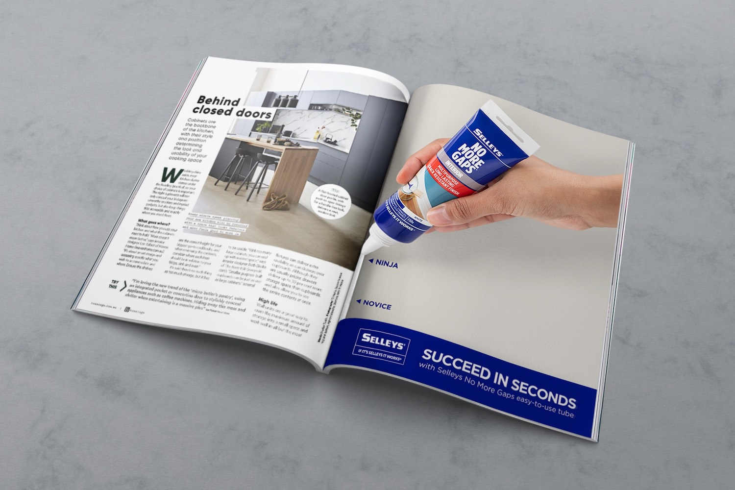 Selleys targets DIY-ers in latest national brand campaign 'No More Gaps' via Thinkerbell