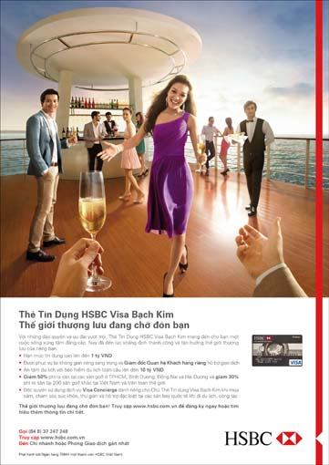 HSBC pitches new Platinum Visa as a symbol of success for Vietnam's