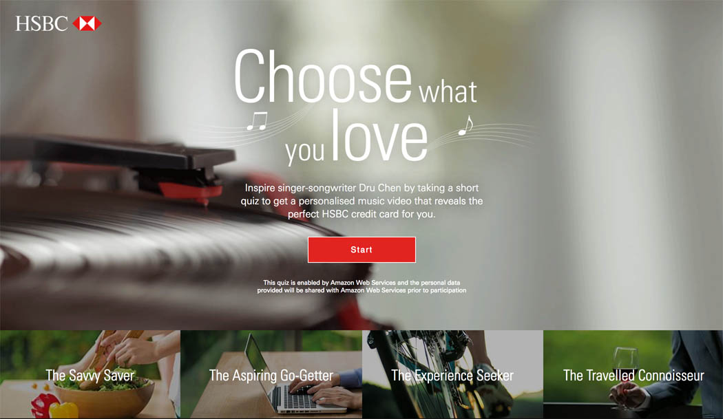 HSBC and JWT Singapore ask people to choose what you love to select