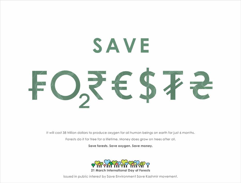 BlackSheep Works India's print message – save forests, save