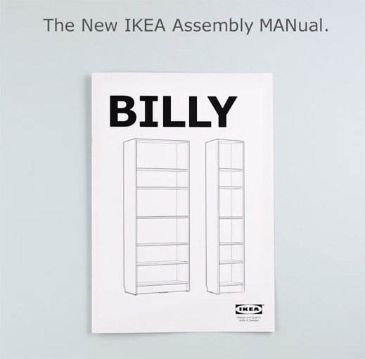 IKEA targets men who refuse to read manuals in April Fools