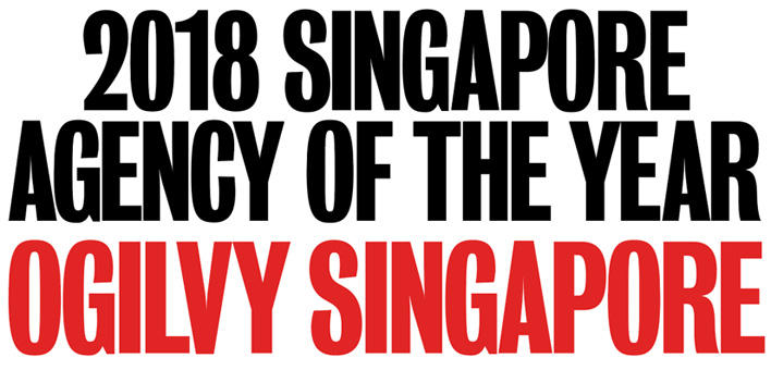 Ogilvy is most awarded creative agency in Singapore in the