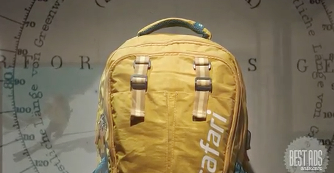 Ogilvy & Mather Mumbai creates a spot for Safari Industries featuring a well travelled rucksack