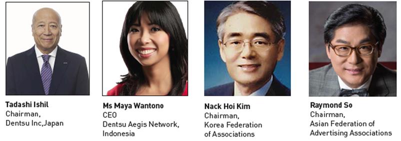 Tadashi Ishil, Maya Wantono and Nack Hoi Kim join Asian Federation of Advertising Associations Excom