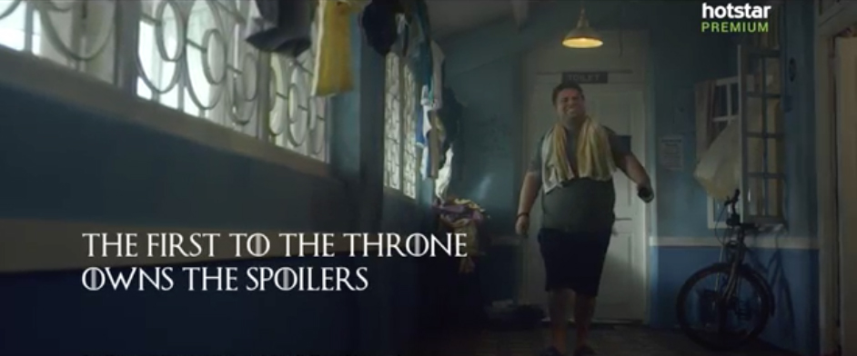 Hotstar Premium and DDB Mudra Group India brazenly celebrate spoilers for the Game of Thrones Final Season
