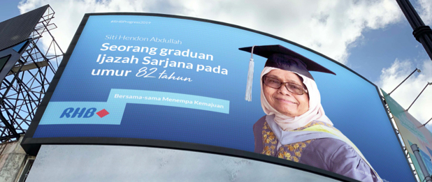 FCB Malaysia and RHB Bank honour an inspiring grandmother's life on iconic KL billboard