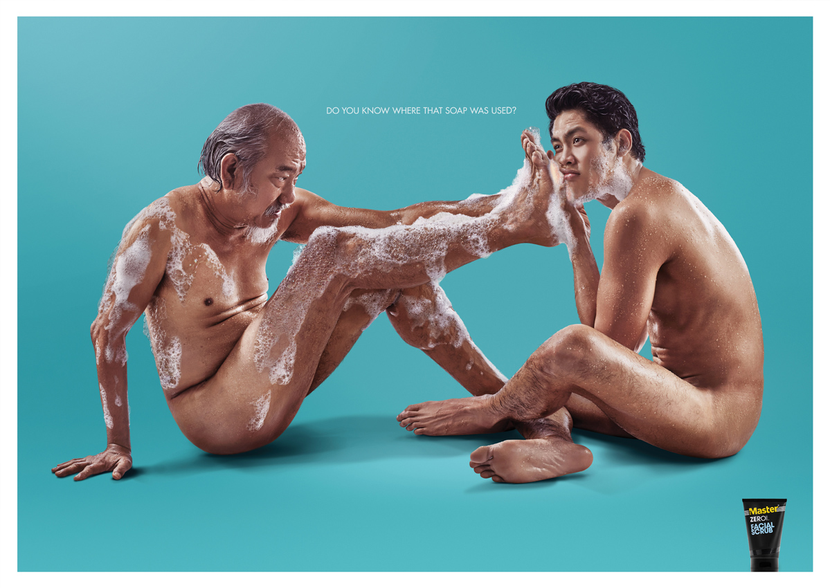 "Seen+Noted: Master Facial Scrub asks ""Do you know where that soap was used?"" via new Ogilvy Philippines print campaign"