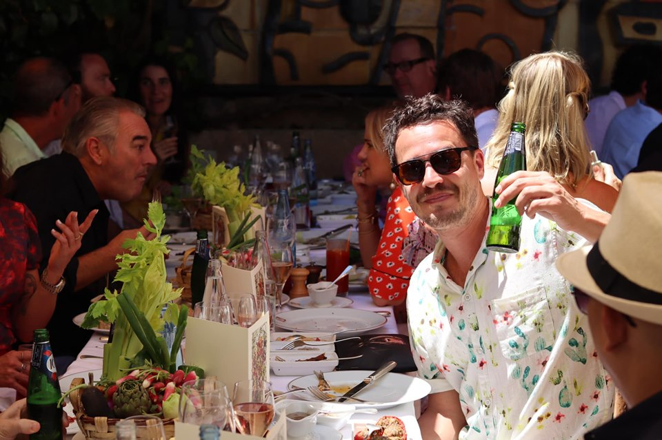 The Legendary Colombe d'Or Lunch – the heavy advertising hitters hit the rosé in St Paul de Vence
