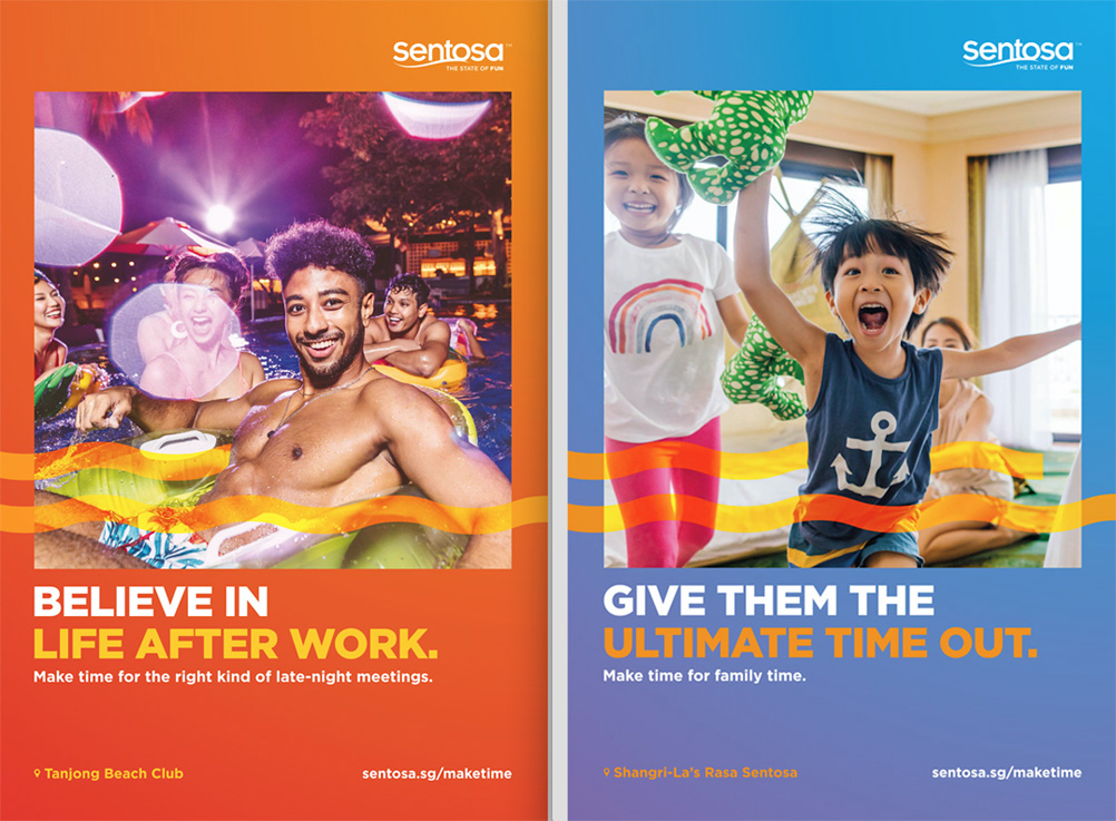 BBH Singapore highlights the benefits of taking a break and to 'Make Time' for a getaway to Sentosa Island