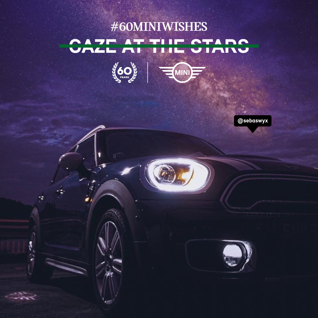 MINI FANS HAVE TO FULFIL 60 WISHES FOR MINI'S 60TH BIRTHDAY IN LATEST CAMPAIGN VIA KINETIC SINGAPORE