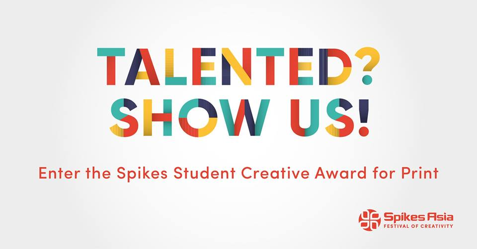 UN and Spikes Asia launches 'Student Creative Award For Print' competition; deadline Aug 23