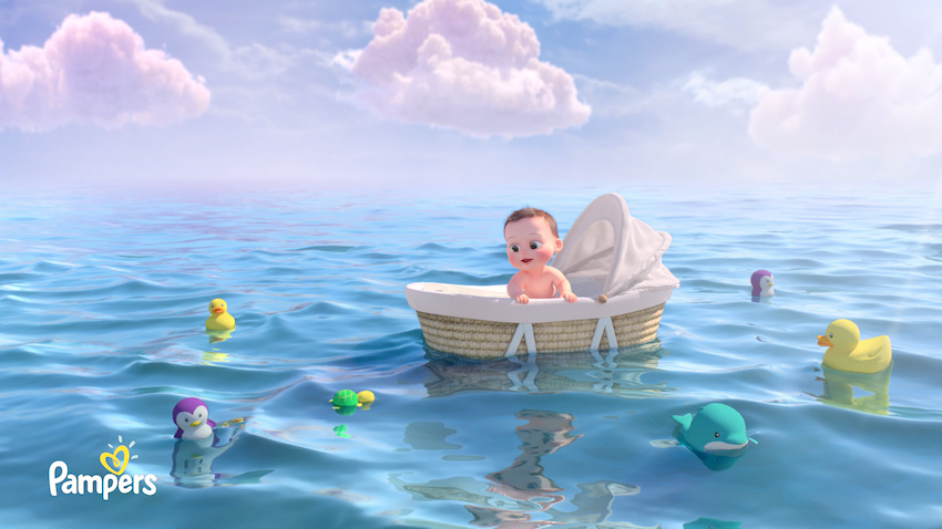 New animated spot from Serviceplan Korea and Ukraine for Pampers Korea takes viewers into the dream World of a Baby