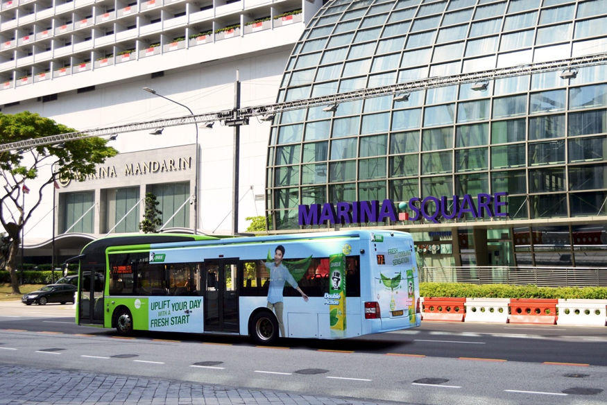 Multisensory bus campaign by Wavemaker and Media Taurus Singapore for Darlie