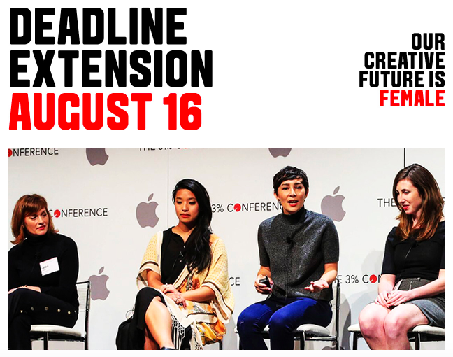 The One Club for Creativity and 3% Movement extend Next Creative Leaders deadline to August 16