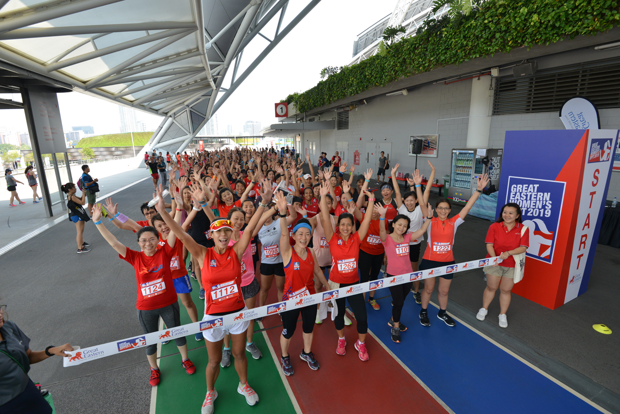 Great Eastern and BLKJ set a record with Singapore's first ever all-women IPPT