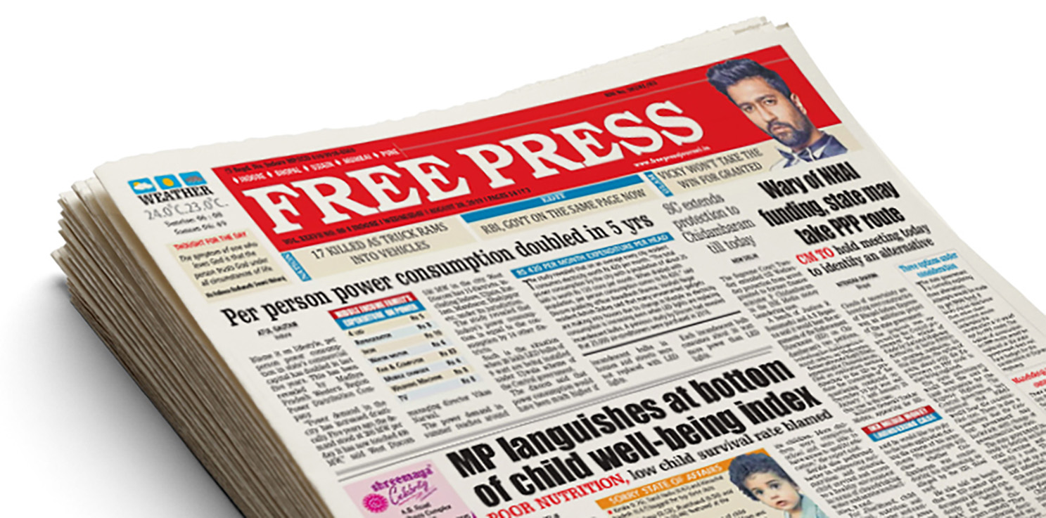Seen+Noted: Taproot Dentsu Mumbai gets the 90-year-old Free Press Journal to change it's masthead to seek change
