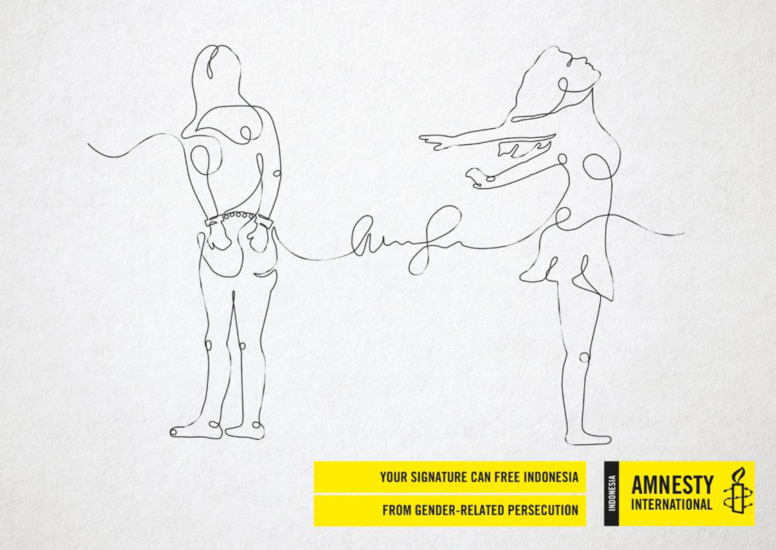 Amnesty International and Grey Indonesia partner to create the Single Signature poster campaign
