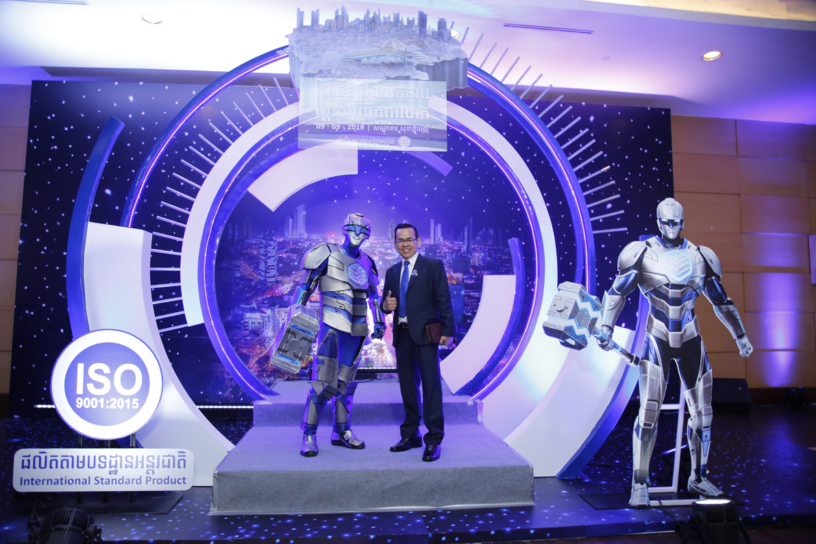 Superheroes assemble for product launch by ComZone in Phnom Penh Cambodia