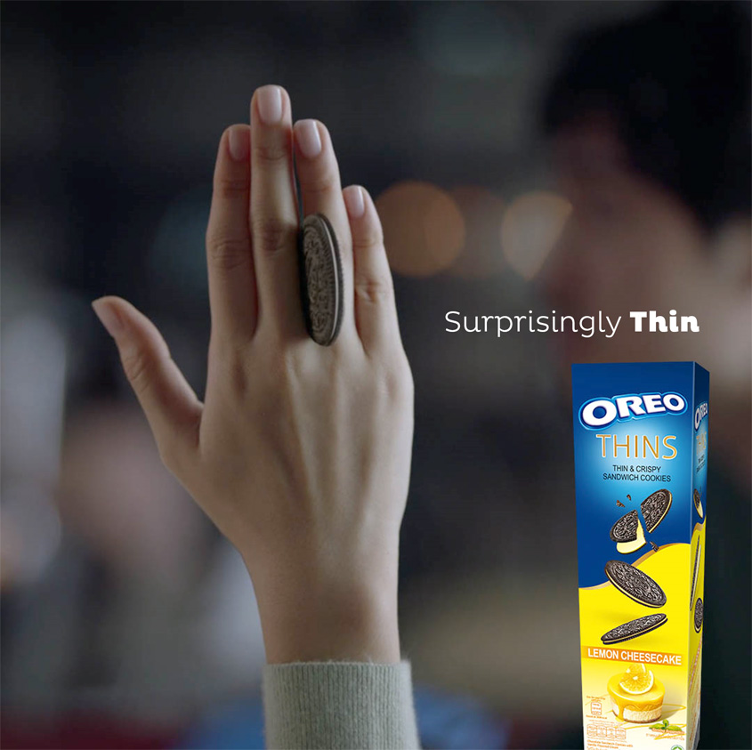 FCB Jakarta uses a sleight of hand to reveal Oreo Thins in a stay playful campaign