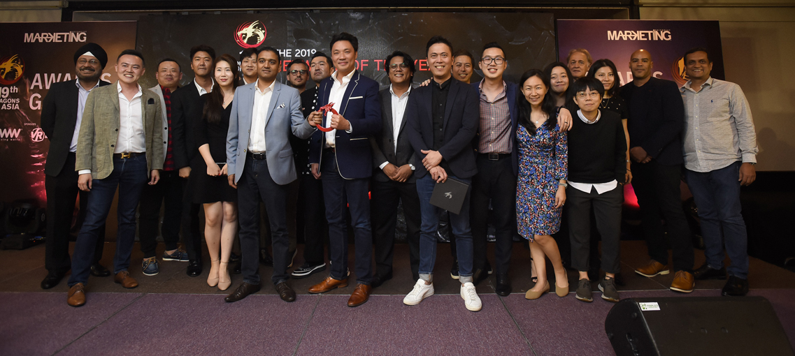 Geometry wins Network of the Year at 2019 Dragons of Asia for fouth year in a row