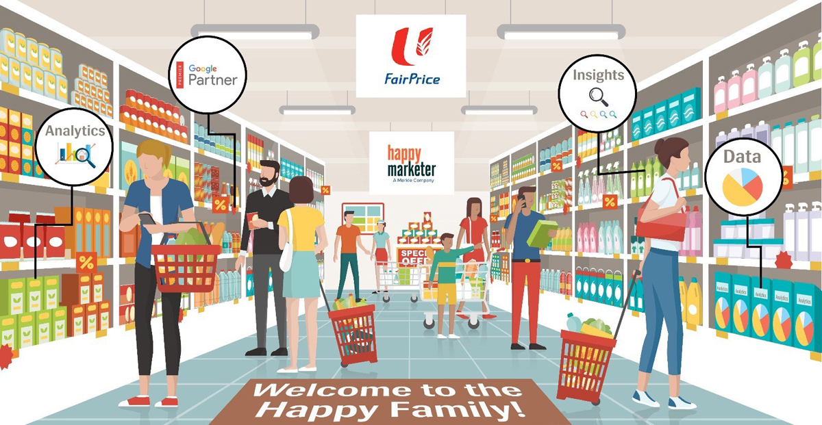 NTUC Fairprice names Happy Marketer Singapore as Digital Analytics Partner