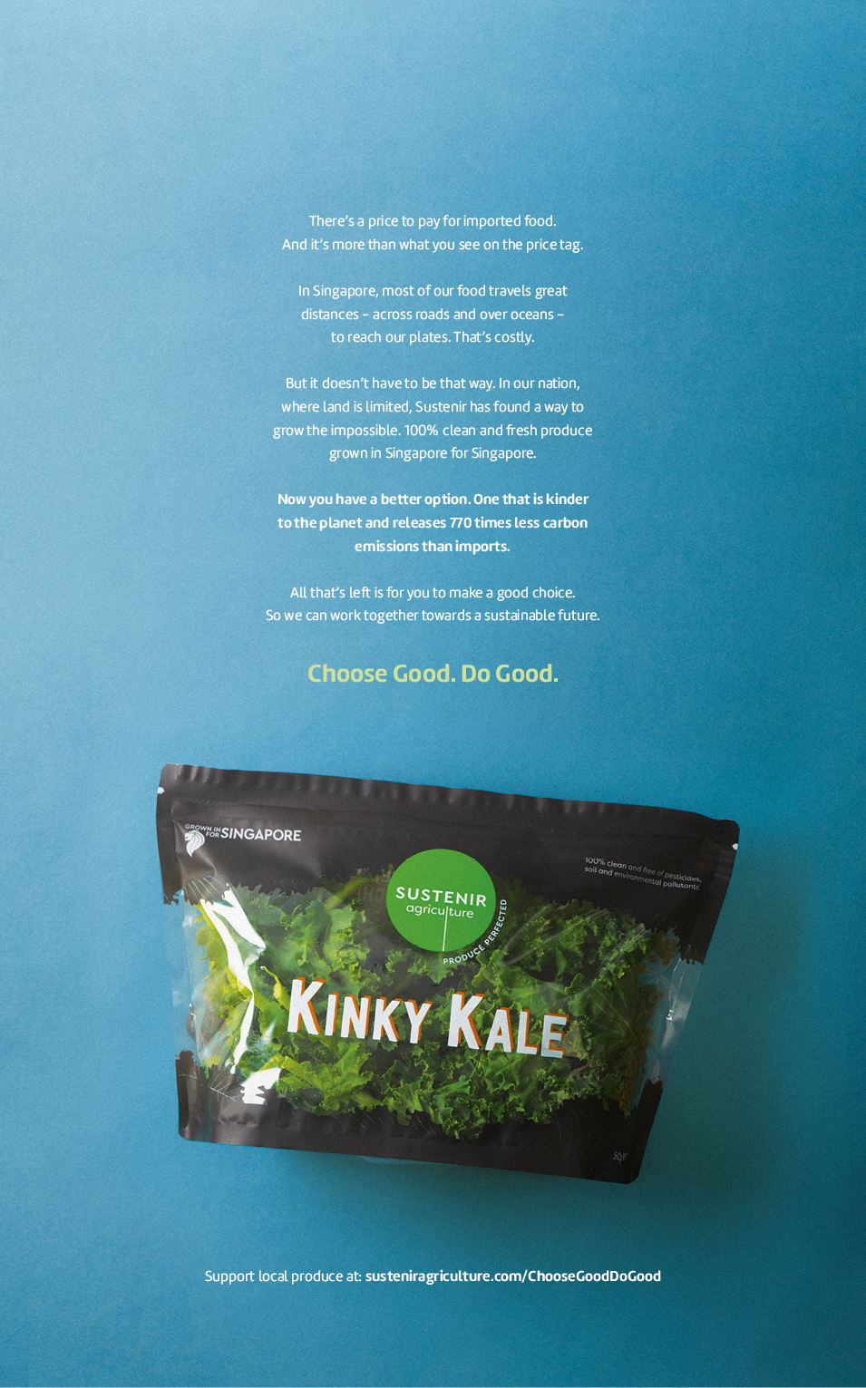 Iris launches Choose Good. Do Good. campaign for hydroponic farm Sustenir in Singapore