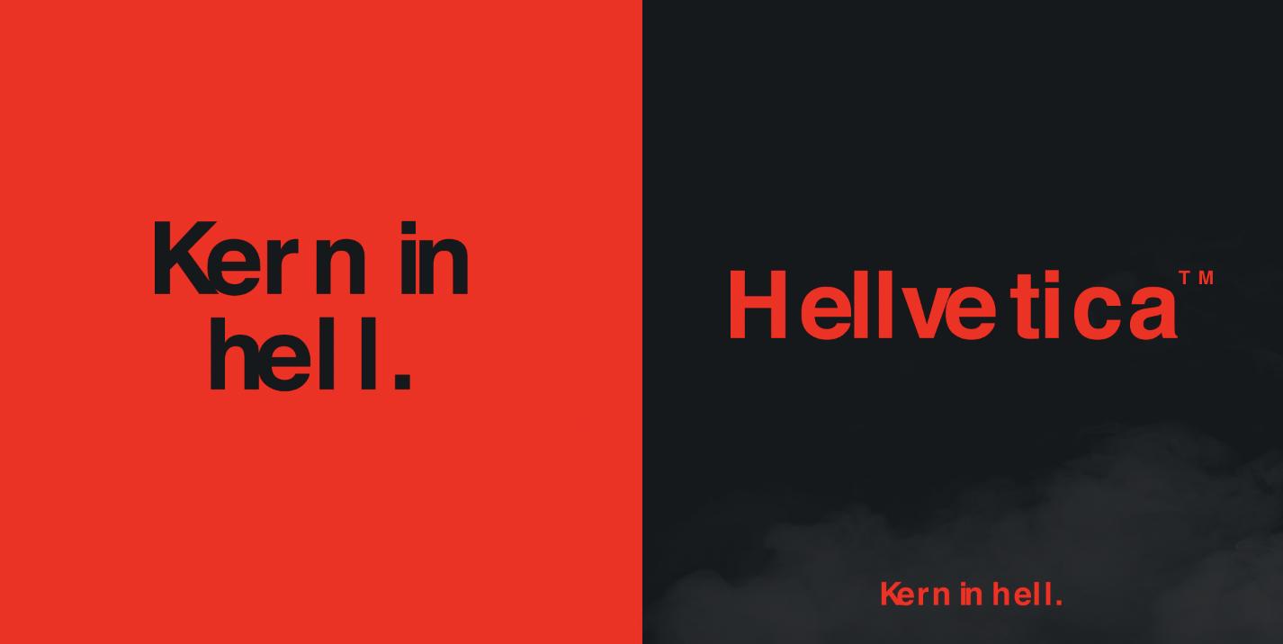 Kern in hell: R/GA New York creatives launch hellish font 'Hellvetica' for Halloween