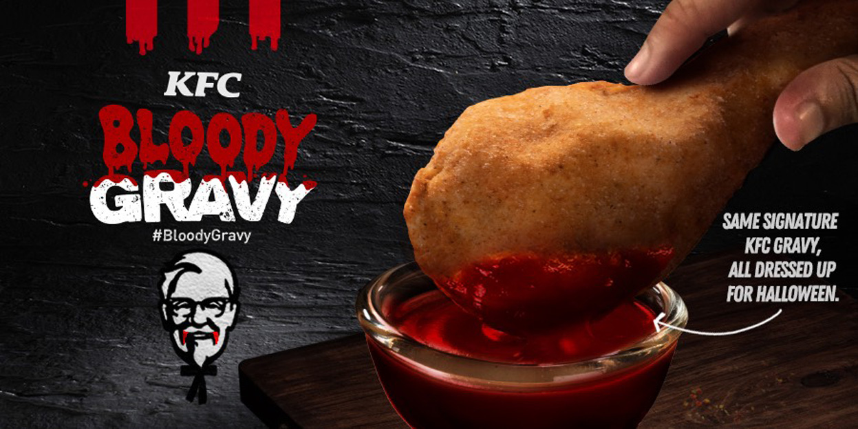 KFC + Ogilvy Philippines stunt sees bloody awesome gravy on the menu for Halloween