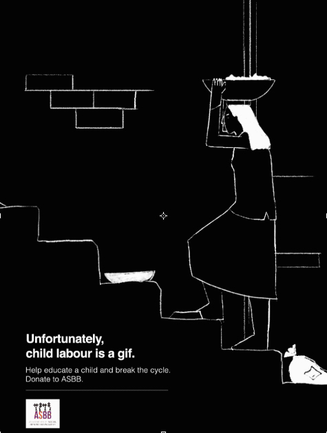 Unfortunately, Child Labour is a Gif: A Children's day message by NGO ASBB and BBH India