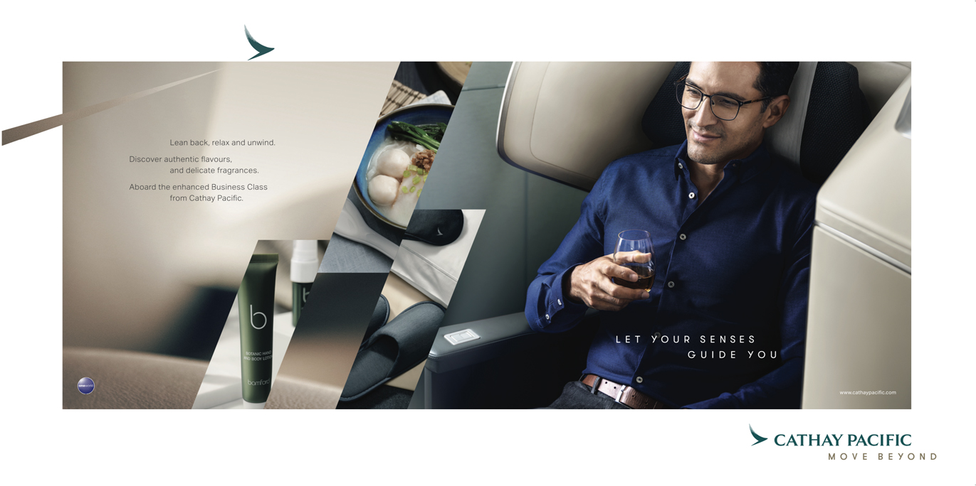 VCCP Singapore creates Let Your Senses Guide You campaign for Cathay Pacific's Enhanced Business Class Experience