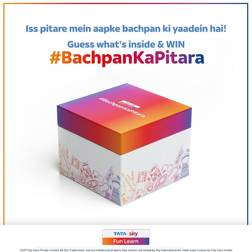 Chimp&z Inc India promotes Tata Sky Fun Learn with a box full of play-and-learn games with #BachpanKaPitara