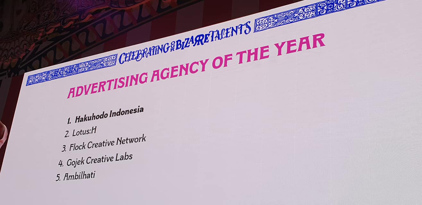 Hakuhodo Indonesia takes out Agency of the Year at 2019 Citra Pariwara awards; Think Thank Indonesia named Production House of The Year