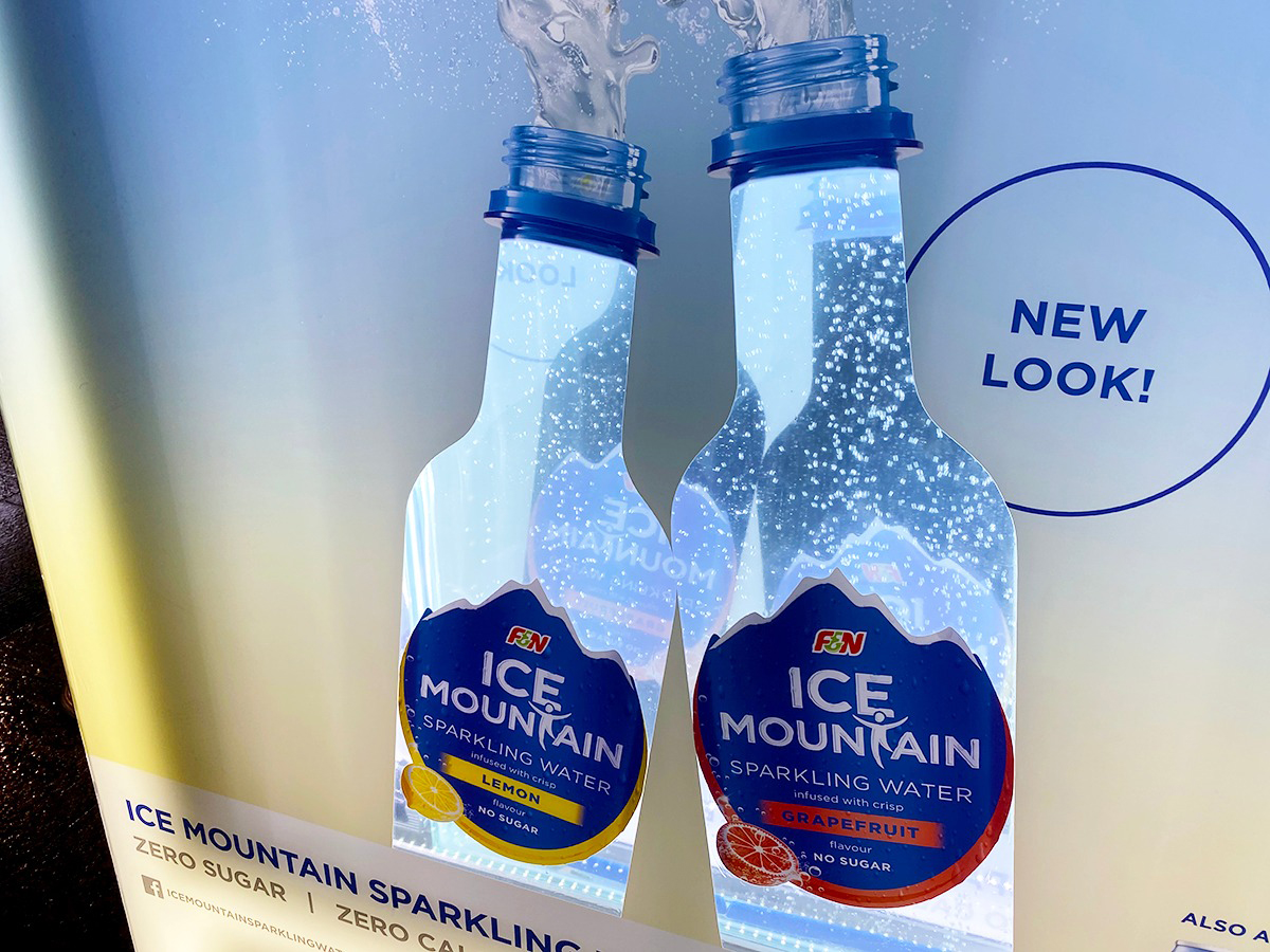 Cheil Singapore and F&N fizz up on Clear Channel's OOH to launch the Ice Mountain unsweetened sparkling water series