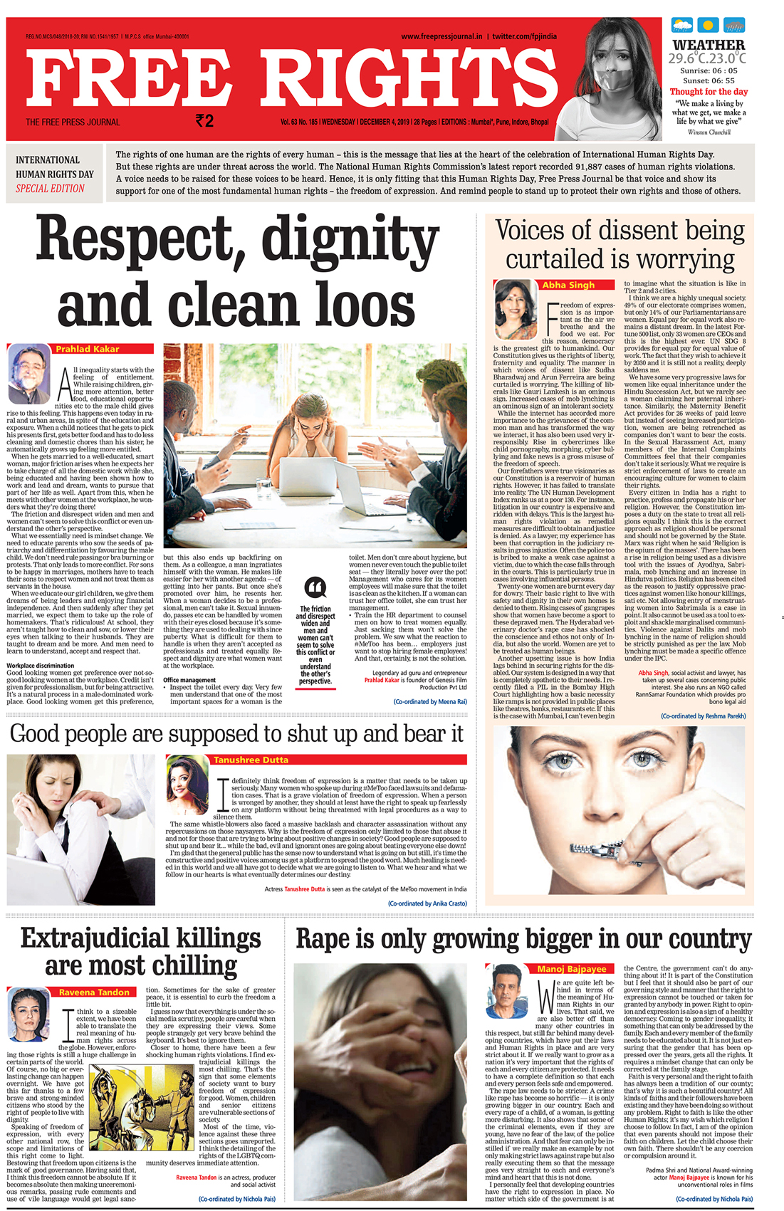 The strength of a masthead continues with Taproot India and Free Press Journal