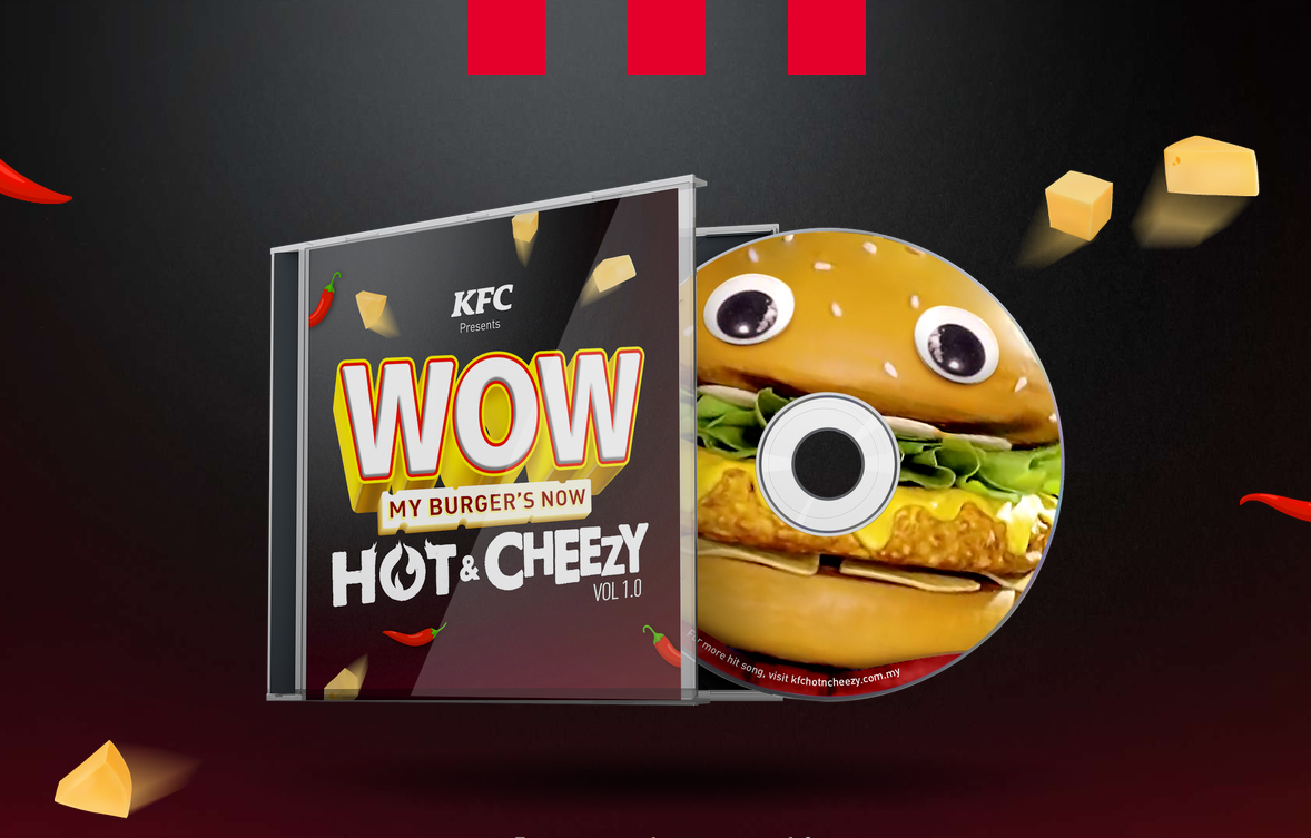 Ensemble Worldwide, UM Malaysia and KFC bring back the Hot & Cheezy burger mascots