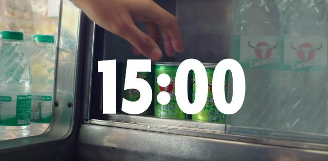 Storyteller Bangkok introduces the Carabao Green Apple alarm Clock through a series of 24 spots