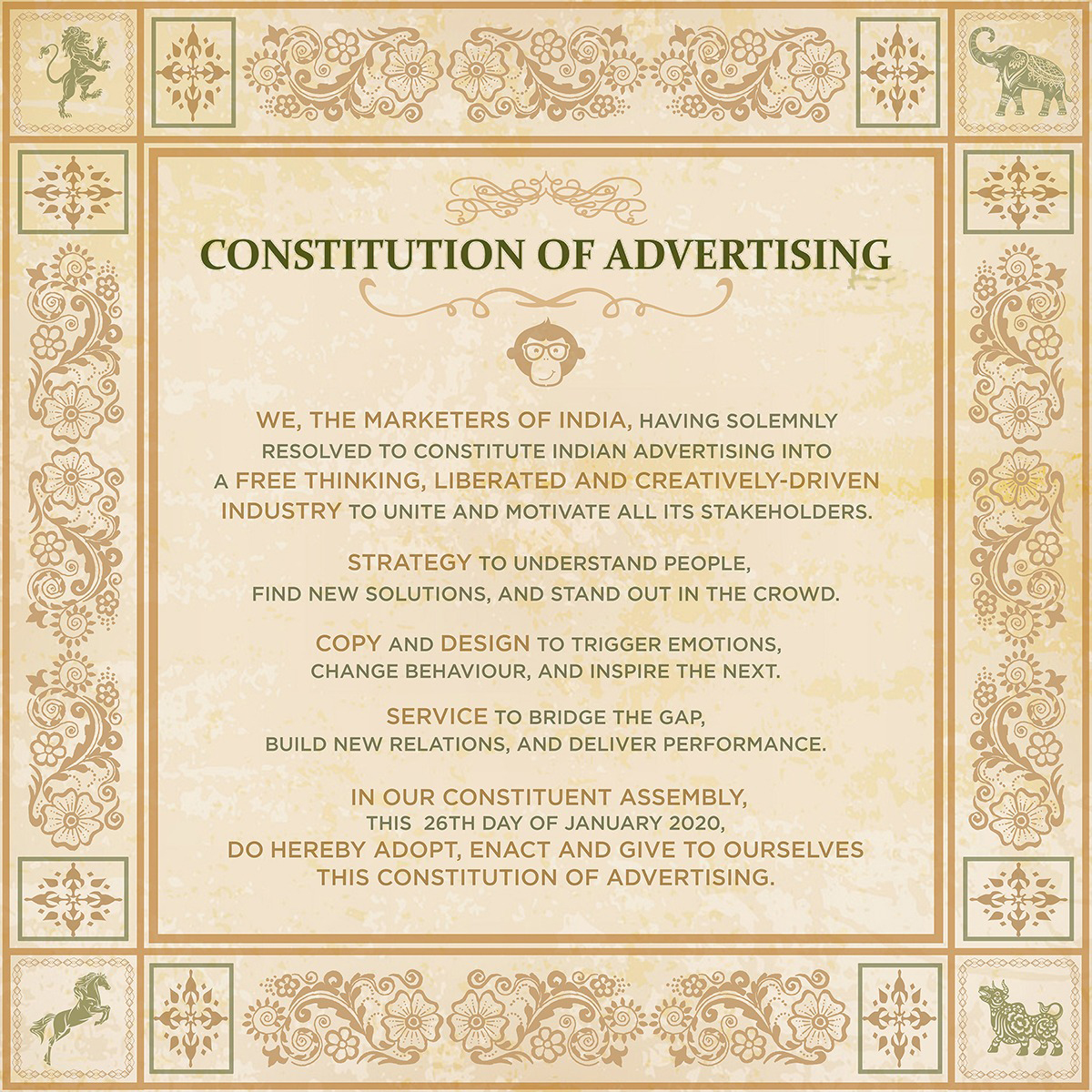 Chimp&z Inc India Unveils The Constitution of Advertising