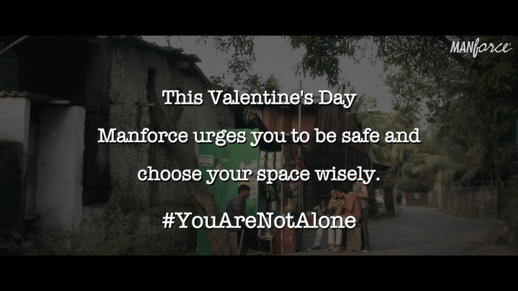 You're not alone this Valentine's Day warns Manforce Condoms and ADK Fortune India