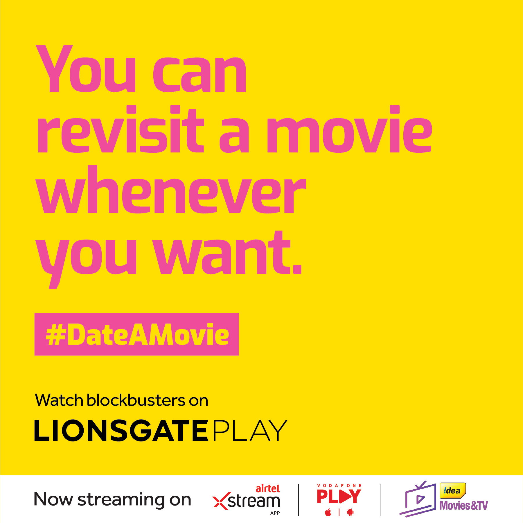 Seen+Noted: Havas India Valentine's Day campaign encourages Lionsgate Play viewers to Date a Movie
