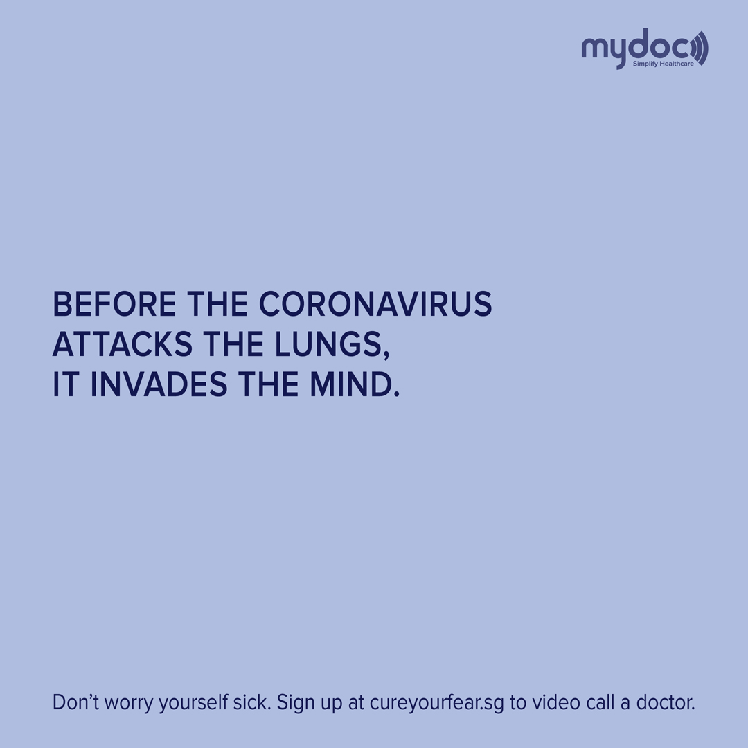 Singaporean Creatives and MyDoc get together to help cure the fear of COVID-19