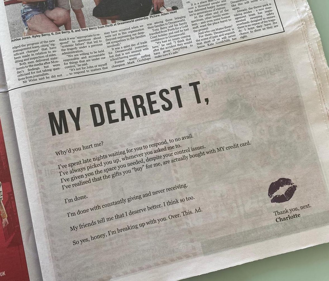 """Singaporean telco Circles.Life calls out toxic relationships with telcos In """"Heartbroken Charlotte"""" ad"""