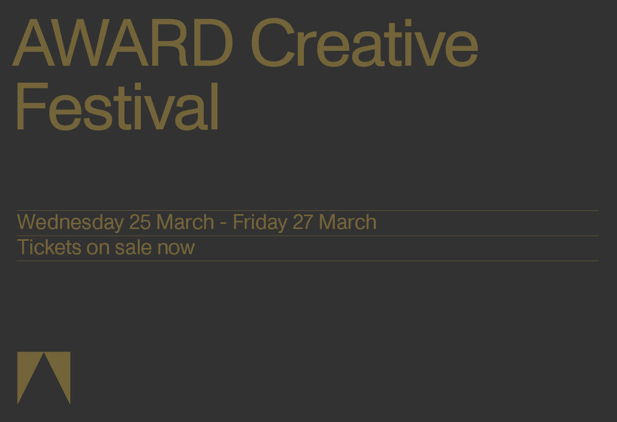 Countdown to inaugural AWARD Creative Festival begins ~ Gerry Graf and Jeff Goodby to headline creative debate presented by Google