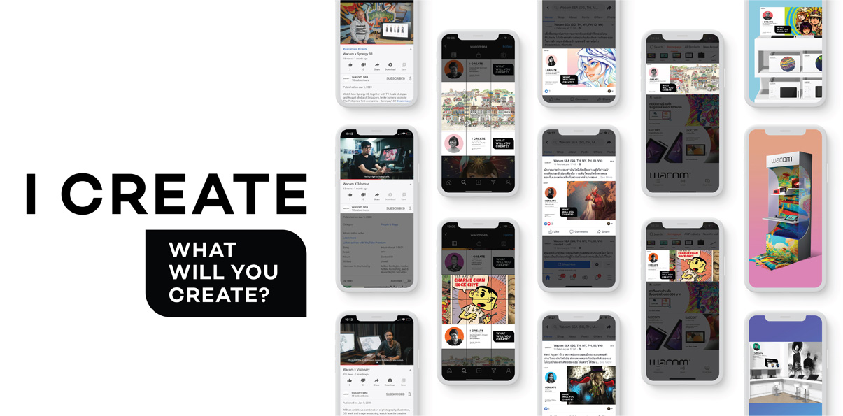 """Beatnk collaborates with TJT Creative Lab and REBL Singapore to launch Wacom's """"I Create"""" campaign"""