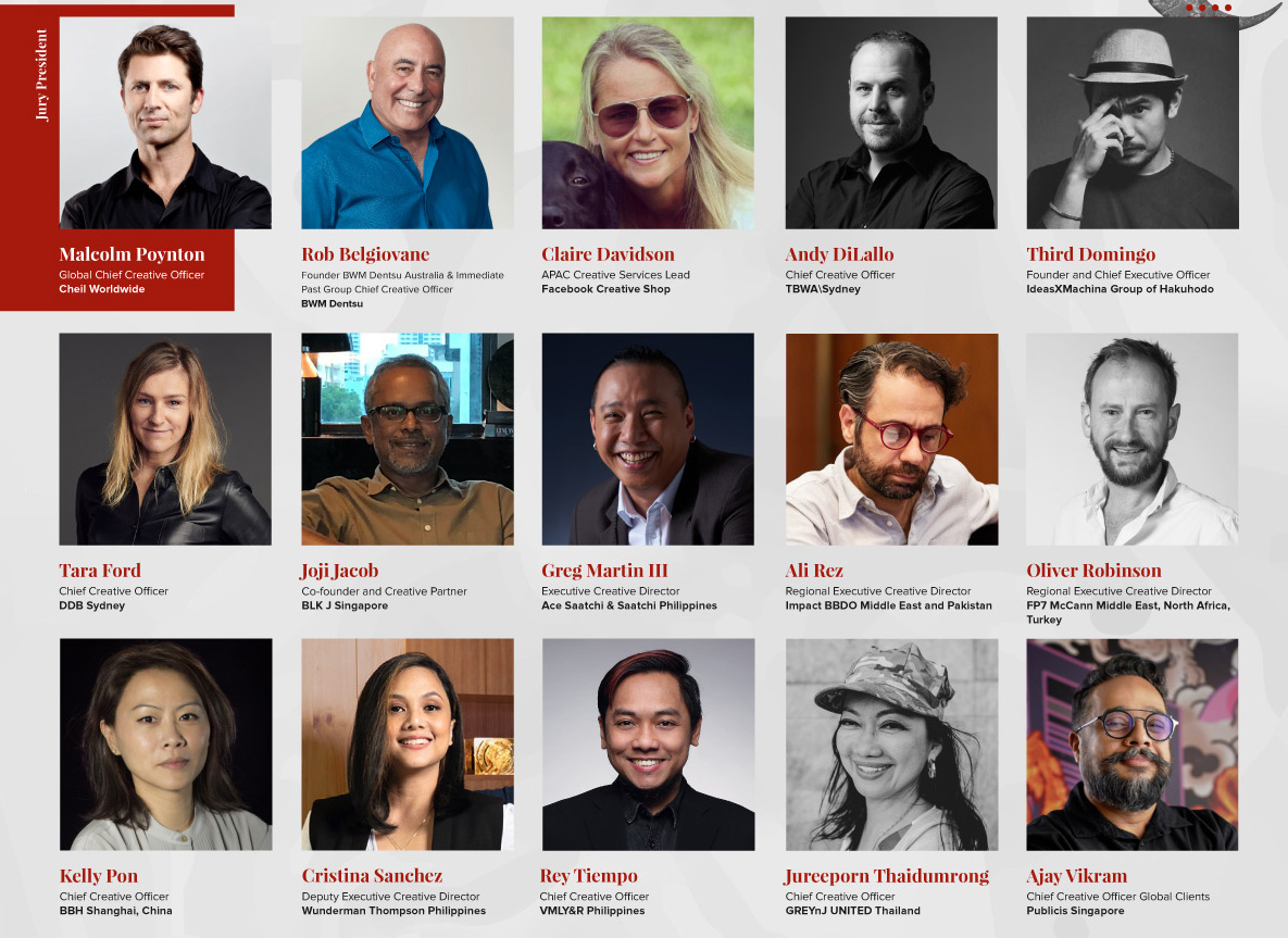 Asia Pacific Tambuli Awards announces all-star line up for its Creative Executive Jury lead by Cheil Global CCO Malcolm Poynton