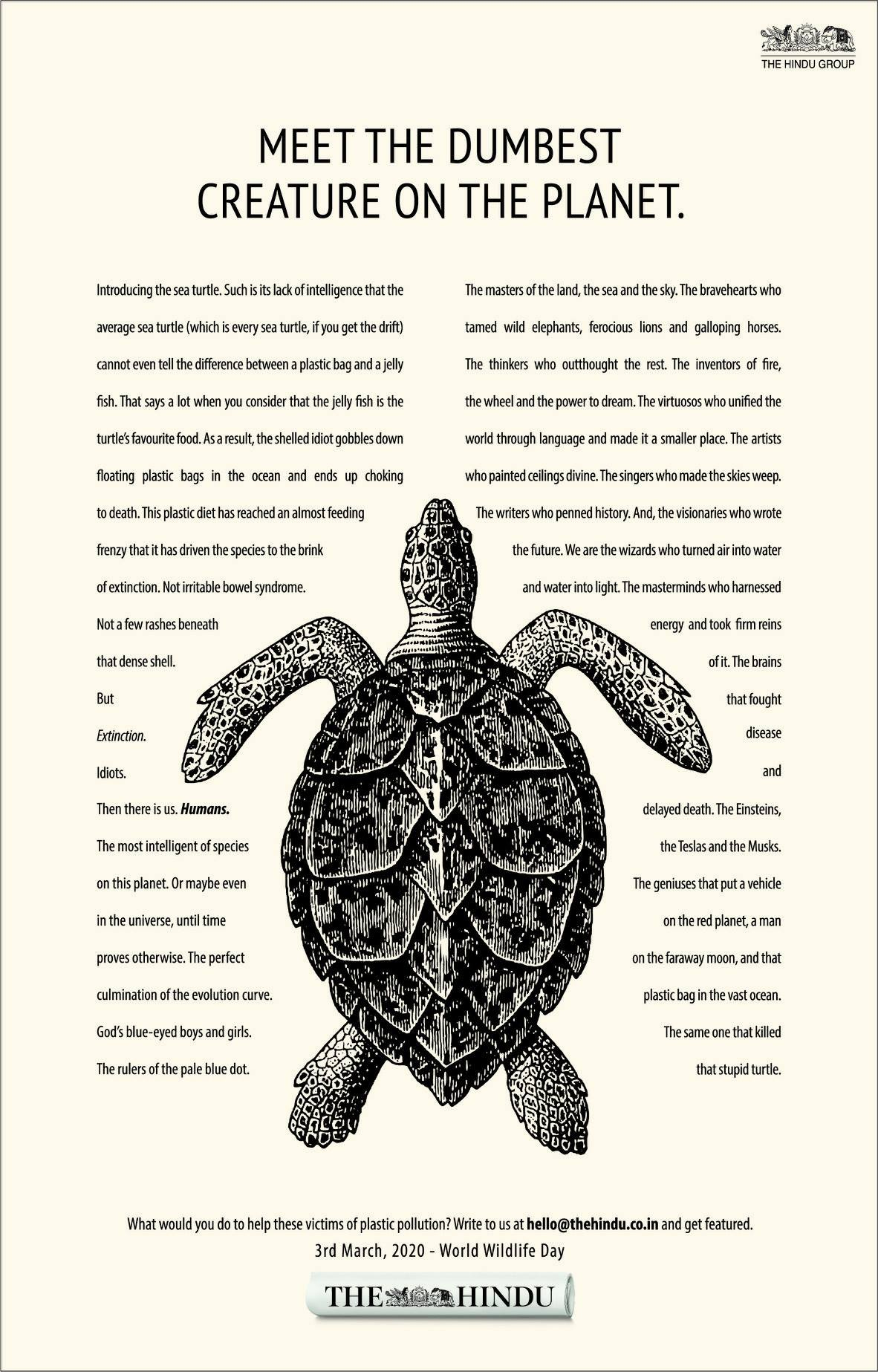 Seen+Noted: Ogilvy India introduces us to the dumbest creature on the planet