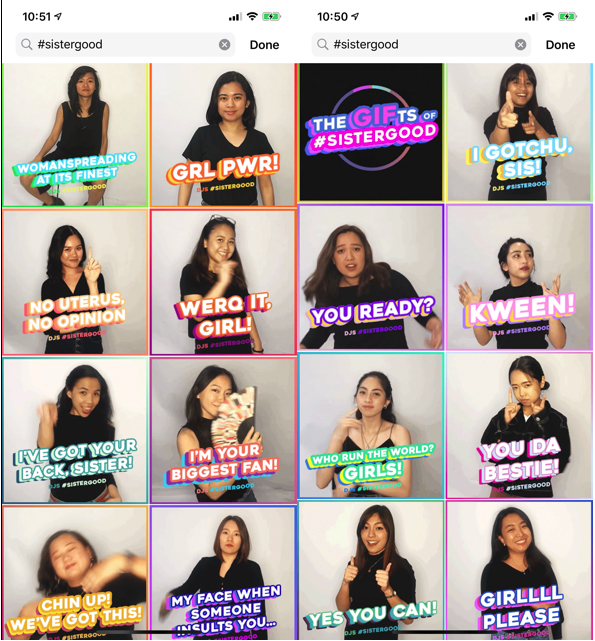 Dentsu Jayme Syfu Philippines shares the Gifs of #Sistergood for women's month