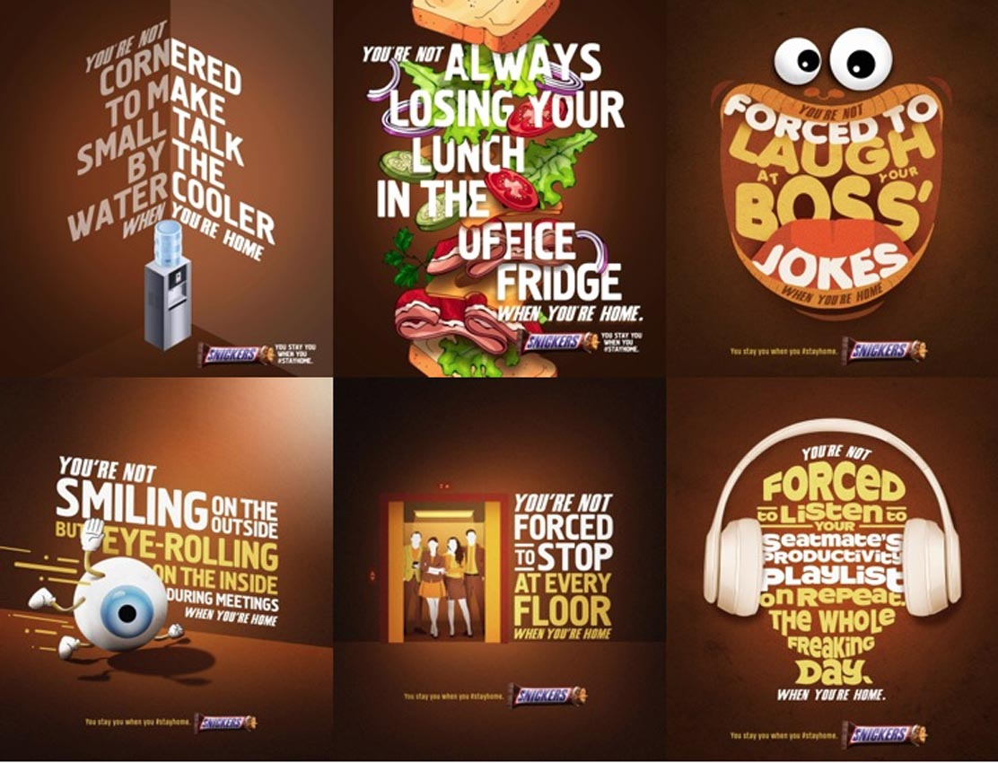 BBDO Guerrero Philippines adds a twist to the Snickers tagline encouraging people to stay home