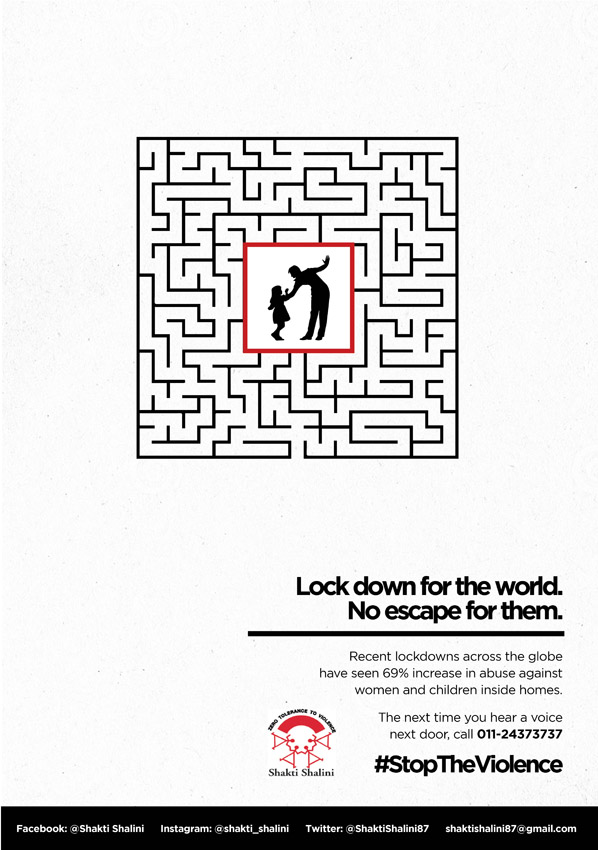 Shakti Shalini release print work to highlight the increase in domestic violence cases in India