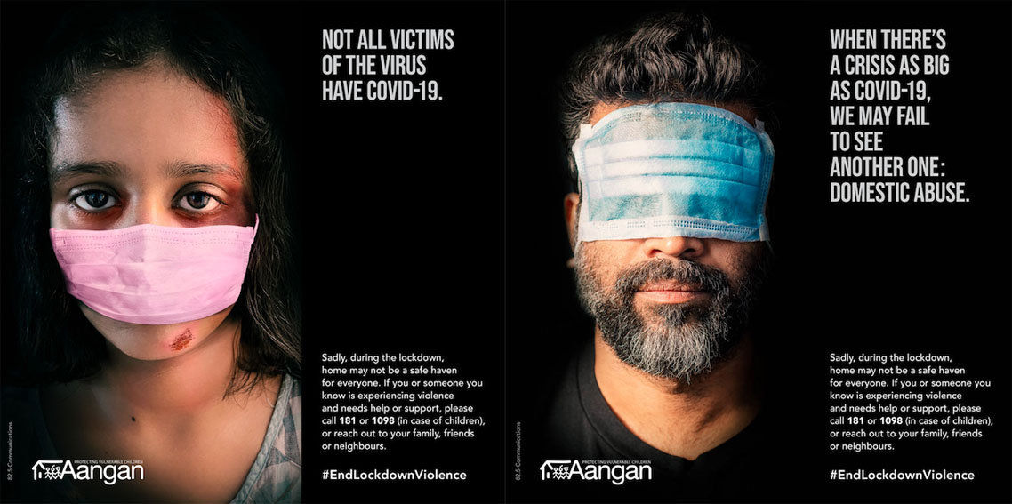 82.5 Communications and Aangan Trust launch #EndLockdownViolence campaign in India to highlight rise in domestic violence