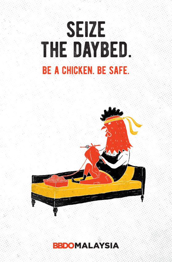 BBDO Malaysia inspires everyone to sit back and be 'Chickens'